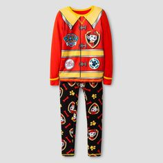 Toddler Boys' Cuddl Duds Paw Patrol Fireman Costume 2-Piece Thermal Underwear Set Multi-Colored, Toddler Boy's, Size: 2T/3T, Multicolored
