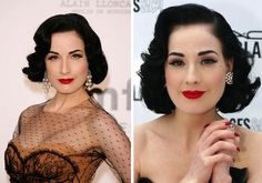 If there's one celebrity who knows how to do vintage and retro hairstyles it's definitely this lady: Dita von Teese!