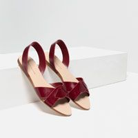 Image 3 of LEATHER STRAP SANDALS from Zara Chaussures Femme 7b8b9ebc2dd