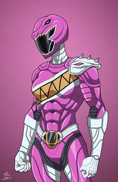 Pink Raptor Ranger commission by phil-cho on DeviantArt