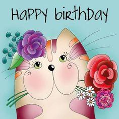 happy birthday wishes Sharon Cool Happy Birthday Images, Free Happy Birthday Cards, Happy Birthday Art, Happy Birthday Greetings, Birthday Wishes, Happy Birthday Sharon, Birthday Cats, Birthday Cartoon, Happy Birthday Messages