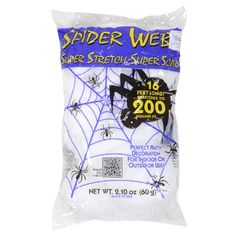 Deluxe Super Stretch Scary White Spider Web Spooky Halloween Party Decoration: Amazon.co.uk: Toys & Games