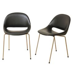 1960 Léon Stynen 1960 pair of very rare side chairs