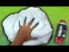 How To Make Fluffy Slime with Shaving Cream NO BORAX - YouTube