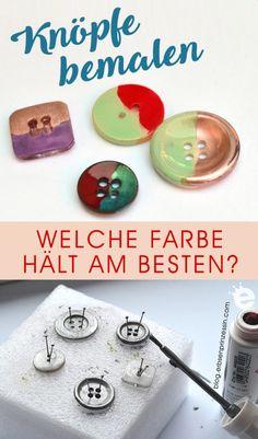 Knöpfe selber lackieren: welche Farbe hält auch noch nach der Wäsche? Marker, Blog, Washing Machines, Enamel Paint, Pens, Nail Polishes, Markers, Blogging
