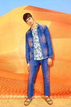 メゾン キツネ 2016年春夏メンズコレクション - パリジャンの冒険、砂漠に栄えるミニマルな装い
