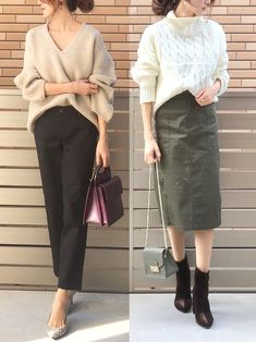 30 hottest winter outfits cold ideas to wear right now Women's Fashion Dresses, Fashion Pants, Womens Dress Suits, Fashion Capsule, Over 50 Womens Fashion, Business Dresses, Japan Fashion, Minimalist Fashion, Casual Chic
