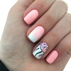 Photo, Photo Requires a little nail base creativity design for your short toenails N . Simple Acrylic Nails, Fall Acrylic Nails, Acrylic Nail Designs, Stylish Nails, Trendy Nails, Dream Catcher Nails, Milky Nails, Tribal Nails, Gem Nails