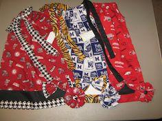 Alabama ROLL TIDE, University of Memphis TIGERS, & Arkansas RAZORBACKS pillowcase dress