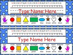 Never run out of nameplates again with this free name plates PowerPoint file. There are two versions of the name plates included in the file - name plates with print practice guide lines and name plates without print practice lines. Simply open the file, click the name text box, type your