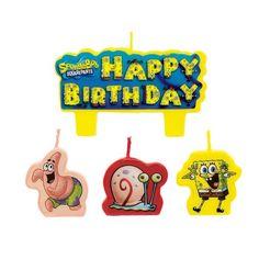 SpongeBob Birthday Candles 4ct