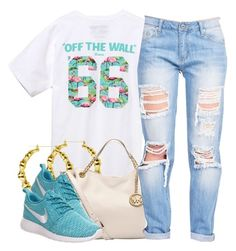 """otw."" by clickk-mee ❤ liked on Polyvore featuring Vans, MICHAEL Michael Kors and NIKE"