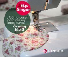 #TipSinger: esta puntada puedes usarla cuando el tipo de tela es delicada como la seda o en ocasiones cuando lo que se está confeccionando es algún tipo de prenda especial en la que quieres obtener un acabado perfecto.