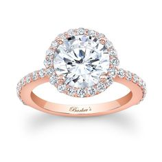 ROSE GOLD ENGAGEMENT RING STYLE # 7839LPW