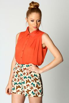 butterfly print shorts by DaisyCombridge