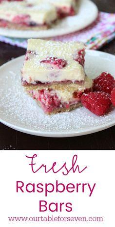 Fresh Raspberry Bars from Table for Seven