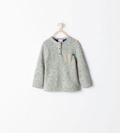 Image 1 of HENLEY SWEATSHIRT from Zara
