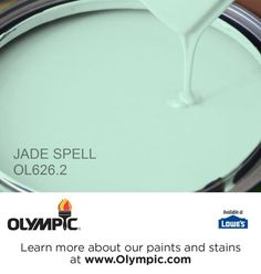 JADE SPELL OL626.2 is a part of the greens collection by Olympic® Paint.
