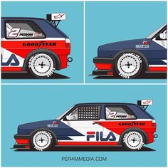 Retro FILA inspired MK2 #per4m_media #vw #vwgolf #vwmotorsport #vwperformance #golfmk2 #vwgolf #vdub #racecar #liverydesign #automotiveart #carillustration #carart #vectorart #fila #retro #90s #oldschool #filavintage