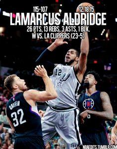 LaMarcus Aldridge -12.18.15 - W vs. Los Angeles Clippers