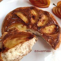 Hotcake de avena y manzana al sarten. Receta en www.sweetfran.com