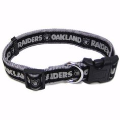 """-""""Oakland Raiders NFL Dog Collars"""" - BD Luxe Dogs & Supplies"""