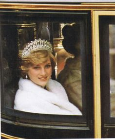 November 4, 1981: Princess Diana attending her first State Opening of Parliament.