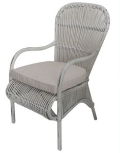 Allissias Attic Design & Vintage French Style — Acca Rattan Dining Chair with Cushion