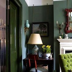 Loving dark greens at the moment. Thank you @farrowandball for the picture #colour #paint #green #style #interior #design #interiordesign #beauty #home #house