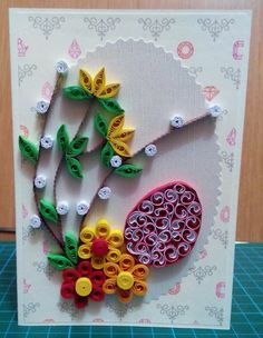 Q Quilling Instructions, Quilling Tutorial, Quilling Craft, Quilling Patterns, Paper Quilling, 3d Origami, Art N Craft, Flower Frame, Easter Crafts