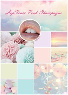 #lipsense #pinkchampagne #moodboard #pastels #colorinspirationboard #colorscheme