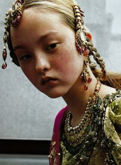 Couture du Monde. Devon Aoki in Christian Dior Fall 1999 haute couture, photographed by Ruven Afanador for Vogue Paris, September 1999.