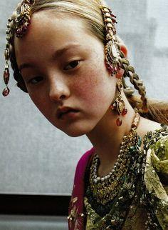 christians, face, fashion, vogue paris, christian dior, beauti, septemb 1999, devon aoki, haute couture