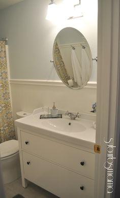 suburbs mama hallway bath reveal ikea vanity u0026 sink
