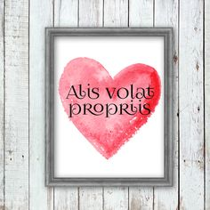 """Alis volat propriis""- She flies with her own wings Quote Art Printable Quote Art, Art Quotes, Inspirational Quotes, Alis Volat Propriis, Printable Wall Art, Wings, Printables, Frame, Life Coach Quotes"