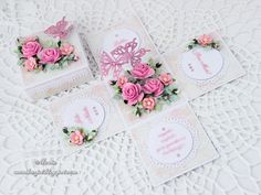 Pink exploding box by Monia - Cards and Paper Crafts at Splitcoaststampers Exploding Box Card, How To Make Box, Fancy Fold Cards, 3d Cards, Craft Box, Diy Box, Flower Tutorial, Paper Gifts, Greeting Cards Handmade