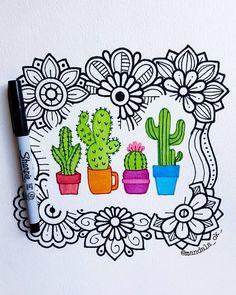 Doodle Art Drawing, Mandala Drawing, Cool Art Drawings, Colorful Drawings, Art Sketches, Doodles Sharpie, Sharpie Art, Op Art, Dibujos Zentangle Art
