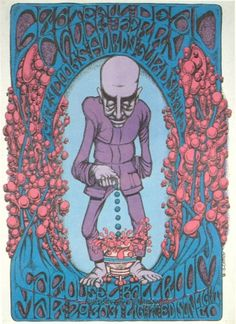 Grateful Dead at Carousel Ballroom Poster 3/29-30-31/1968