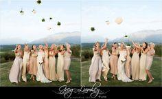 Bridesmaids at Cavalli Stud Farm Wedding Venue.  Greg Lumley Photographer.