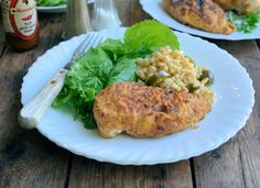 "A Secret Recipe: Low-Fat ""KFC"" Oven Fried Chicken :http://www.lavenderandlovage.com/2015/06/a-secret-recipe-low-fat-kfc-oven-fried-chicken.html"