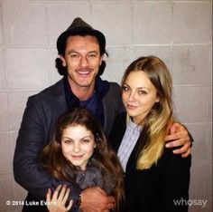LUKE EVANS (Bard) TOOK HIS ONSCREEN DAUGHTERS TO A TAYLOR SWIFT CONCERT SO DON'T TELL ME THE CAST OF THE HOBBIT ISN'T AS CLOSE AS THE LOTR CAST