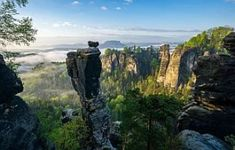 The Painters Way - romantic hiking in the Elbe Sandstone Mountains Cities In Germany, Visit Germany, Germany Travel, Holidays Germany, Grand Budapest Hotel, Free Travel, Narnia, Dresden, Hiking Trails