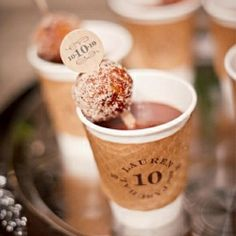 """MEL! But you could do Hot Chocolate.  Coffee and """"I Do(nuts)"""" at the reception"""