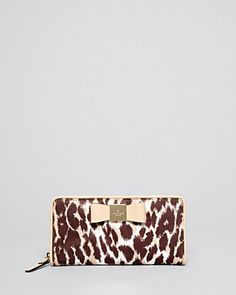 kate spade new york Wallet - Veranda Place Lacey Leopard Continental | Bloomingdale's