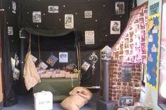 Anderson Shelter reading corner during topic Class Displays, School Displays, Classroom Displays, Eyfs Activities, Interactive Activities, World War 2 Display, Ks2 Classroom, Classroom Ideas, Anderson Shelter