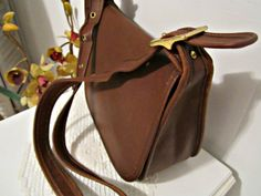 COACH Leather Saddle Bag style Crossbody in Brown  Leather
