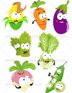 Toon Vegie Pack One  #GraphicRiver         The big family pack of cute vegetables such as corn, carrot, eggplant, asparagus, lettuce, turnip, and peas brothers, ready to use.     Created: 5October12 GraphicsFilesIncluded: VectorEPS Layered: No MinimumAdobeCSVersion: CS Tags: Brinjauls #asparagus #carrot #cartoon #character #chibi #child #children #colorfull #corn #cute #eggplant #eps #food #fruit #kid #lettuce #pea #plant #radish #toon #turnip #vector #vegetables #vegie