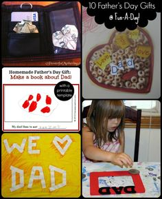 10 Child Made Father's Day Gifts!  Perfect for last minute Father's Day presents from the kids!