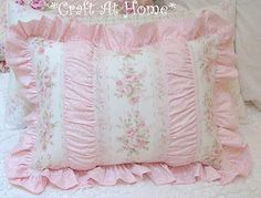 pretty pink and very shabby pillow.