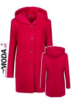 Zima 2020/2021, Flaušový kabát s kapucňou Raincoat, Jackets, Fashion, Rain Jacket, Down Jackets, Moda, La Mode, Fasion